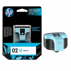 Original C8774WN (HP 02) Ink Cartridges, Light Cyan