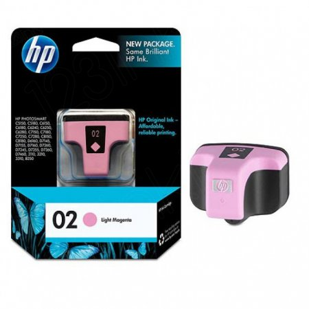 Original C8775WN (HP 02) Ink Cartridges, Light Magenta