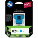 Original C8730WN (HP 02XL) Ink Cartridges, Cyan