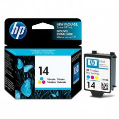 Original C5010DN (HP 14) Ink Cartridges, Tri-Color