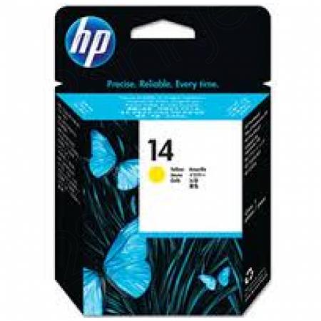 Original C4923A (HP 14) Ink Cartridge Printhead, Yellow