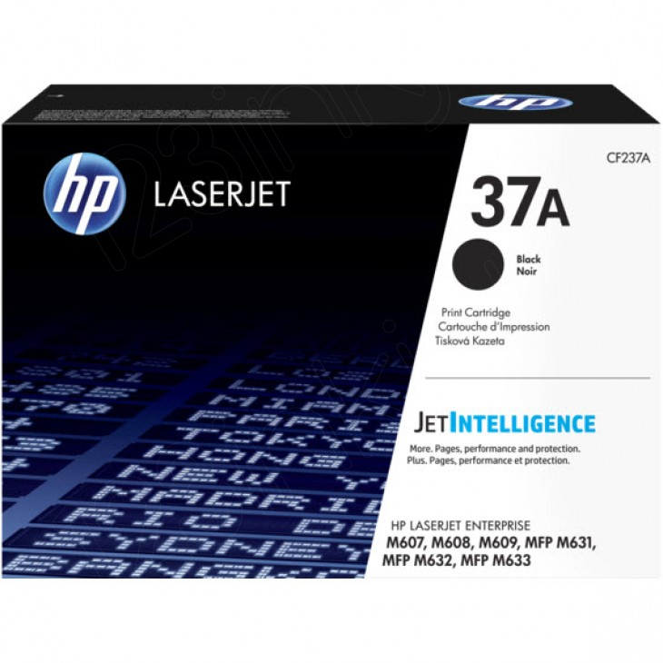Original Hewlett Packard CF237A (37A) Black Toner