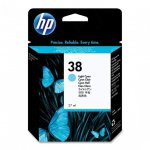 Original C9418A (HP 38) Ink Cartridges, Light Cyan