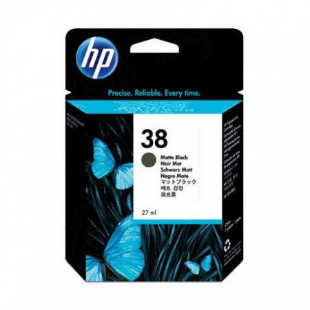 Original C9412A (HP 38) Ink Cartridges, Matte Black