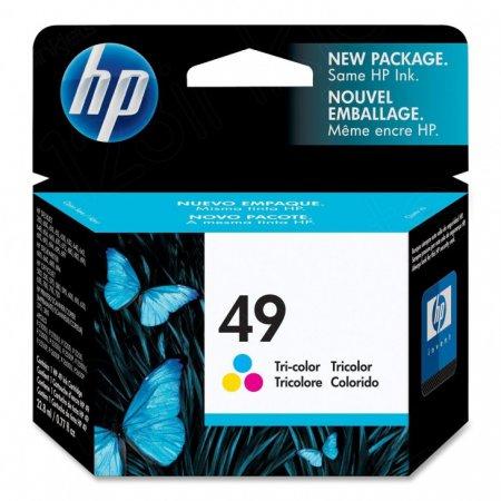 Original 51649A (HP 49) Ink Cartridges, Color