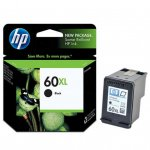 Original CC641WN (HP 60XL) Ink Cartridges, High-Yield Black