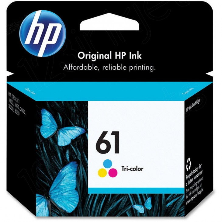 Original CH562WN (HP 61) Ink Cartridges, Color