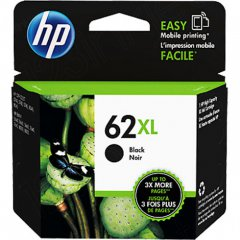 Original C2P05AN (HP 62XL) Ink Cartridges, High-Yield Black