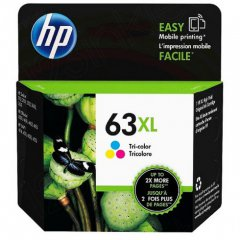Original F6U63AN (HP 63XL) Ink Cartridges, High-Yield Tri-Color