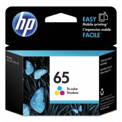 Original N9K01AN (HP 65) Ink Cartridges, Tri-Color