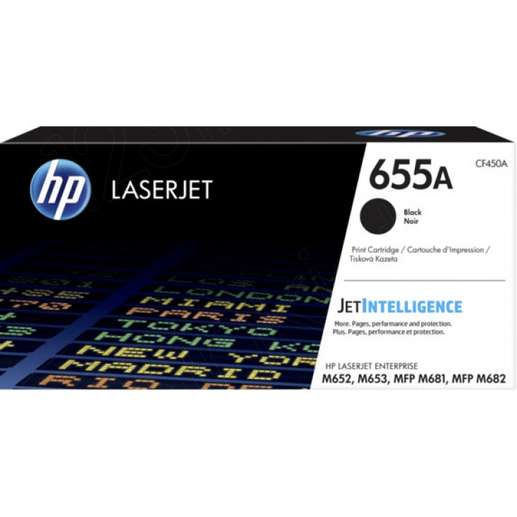 Original Hewlett Packard CF450A (655A) Black Toner