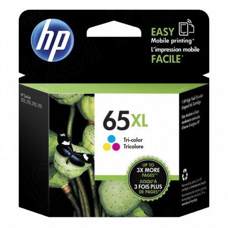 Original N9K03AN (HP 65XL) Ink Cartridges, High Yield Tri-Color
