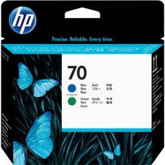 Original C9408A (HP 70) Ink Cartridge Printhead, Blue & Green