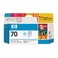 Original C9390A (HP 70) Ink Cartridges, Light Cyan
