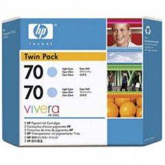 Original CB351A (HP 70) Ink Cartridges, High-Yield Light Cyan