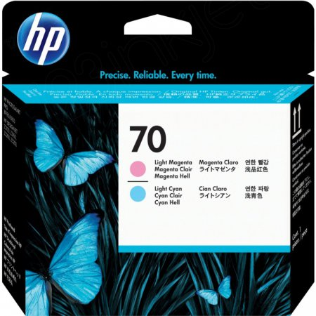 Original C9405A (HP 70) Ink Cartridge Printhead, Light Cyan & Light Magenta