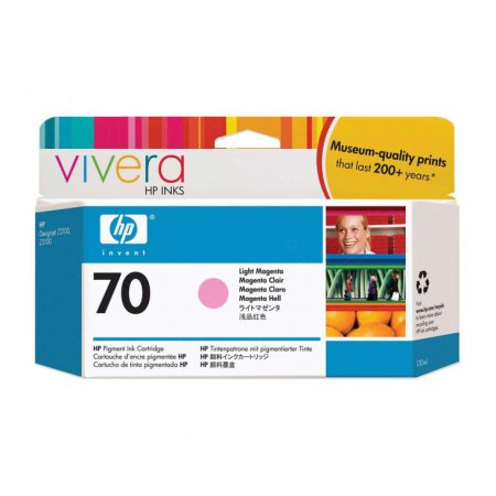 Original C9455A (HP 70) Ink Cartridges, Light Magenta