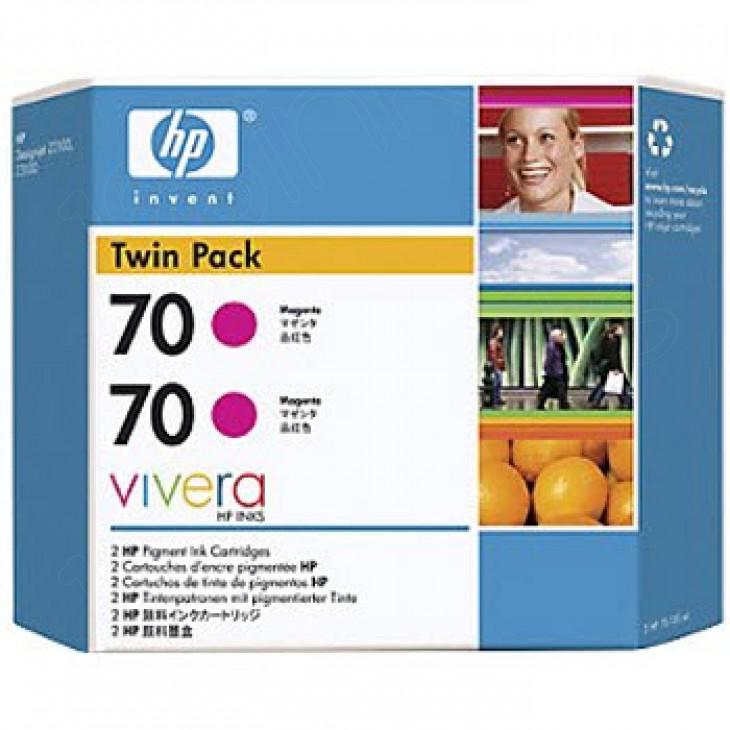 Original CB344A (HP 70) Ink Cartridges, High-Yield Magenta