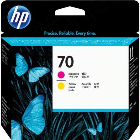Original C9406A (HP 70) Ink Cartridge Printhead, Magenta & Yellow