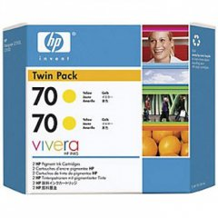 Original CB345A (HP 70) Ink Cartridges, High-Yield Yellow