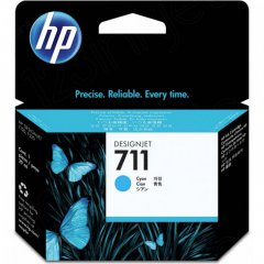 Original CZ130A (HP 711) Ink Cartridges, Cyan