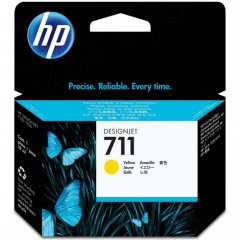 Original CZ132A (HP 711) Ink Cartridges, Yellow