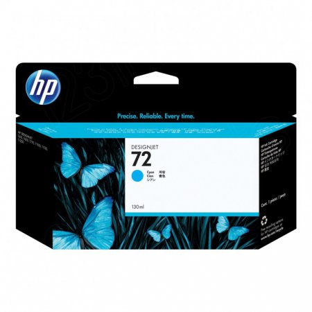 Original C9371A (HP 72) Ink Cartridges, High-Yield Cyan