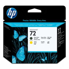 Original C9384A (HP 72) Ink Cartridge Printhead, Matte Black & Yellow