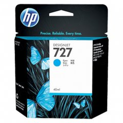 Original B3P13A (HP 727) Ink Cartridges, 40-ml Cyan