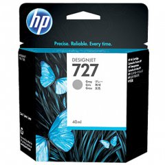 Original B3P18A (HP 727) Ink Cartridges, 40-ml Gray
