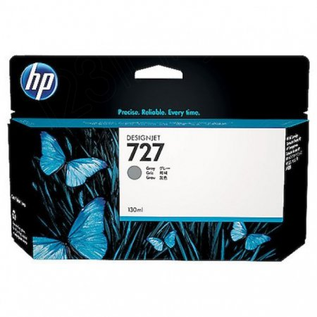 Original B3P24A (HP 727) Ink Cartridges, 130-ml Gray