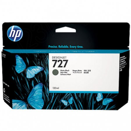 Original B3P22A (HP 727) Ink Cartridges, 130-ml Matte Black
