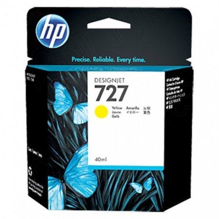Original B3P15A (HP 727) Ink Cartridges, 40-ml Yellow