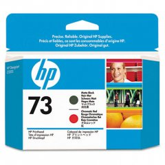 Original CD949A (HP 73) Ink Cartridge Printhead, Matte Black & Chromatic Red