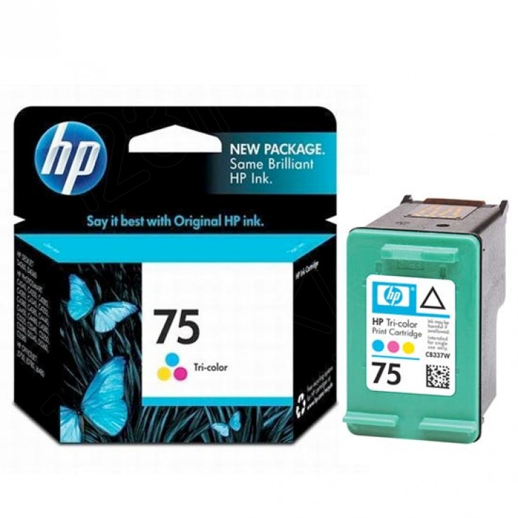 Original CB337WN (HP 75) Ink Cartridges, Tri-Color
