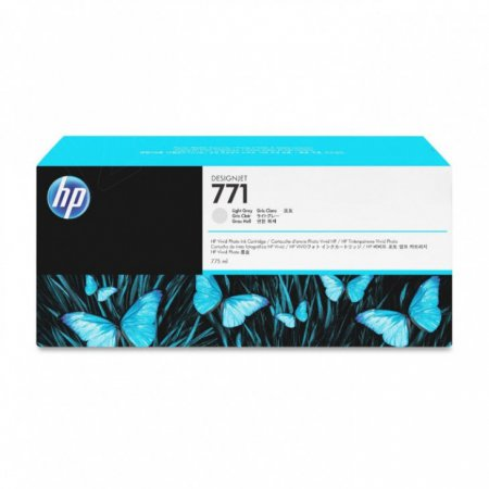 Original CE044A (HP 771) Ink Cartridges, Light Gray