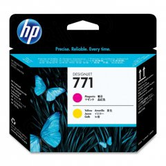Original CE018A (HP 771) Ink Cartridge Printhead, Magenta & Yellow