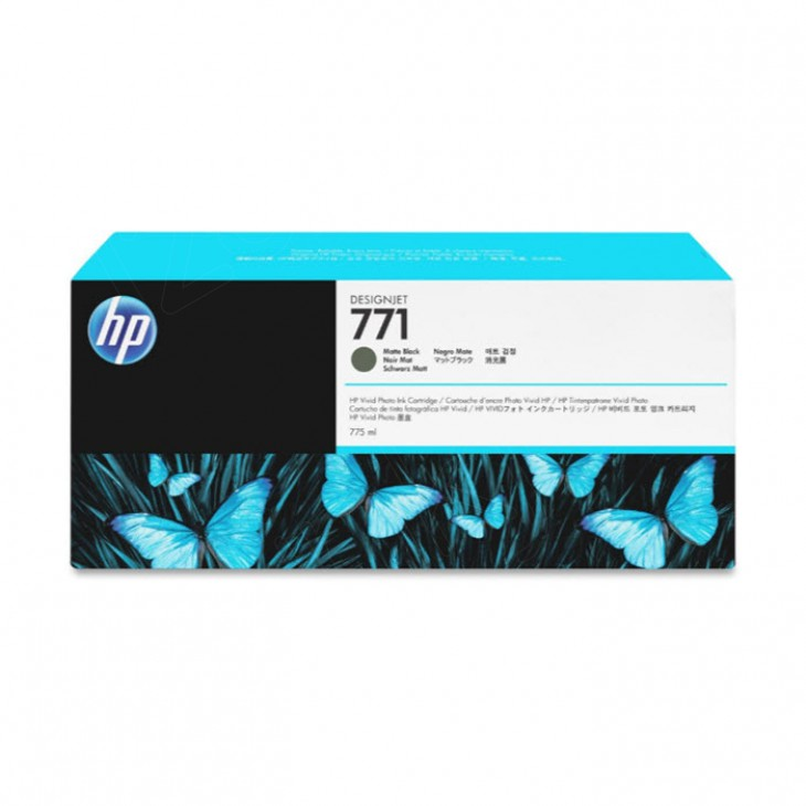 Original CE037A (HP 771) Ink Cartridges, Matte Black