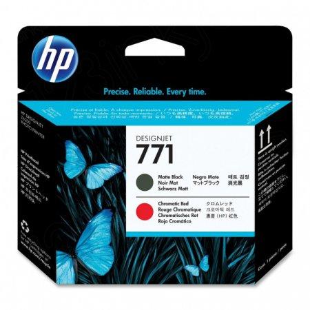 Original CE017A (HP 771) Ink Cartridge Printhead, Matte Black & Red