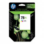 Original C6578AN (HP 78XL) Ink Cartridges, High-Yield Color