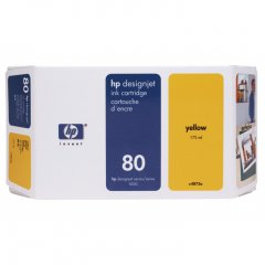 Original C4848A (HP 80) Ink Cartridges, High-Yield Yellow