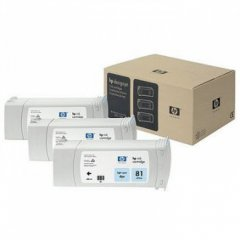 Original C5070A (HP 81) Ink Cartridges, High-Yield Light Cyan