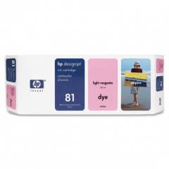 Original C4935A (HP 81) Ink Cartridges, Light Magenta