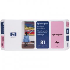 Original C4955A (HP 81) Printhead and Cleaner, Light Magenta