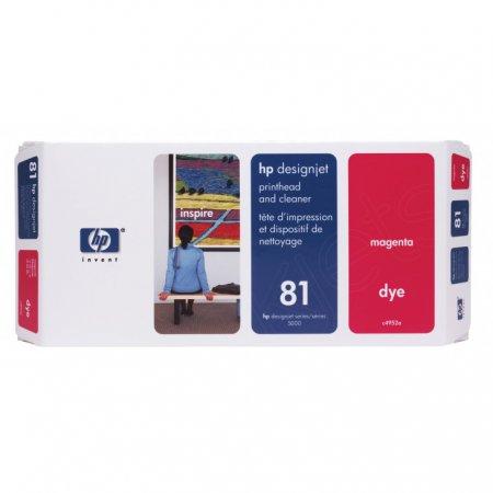 Original C4952A (HP 81) Printhead and Cleaner, Magenta
