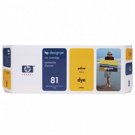 Original C4933A (HP 81) Ink Cartridges, Yellow