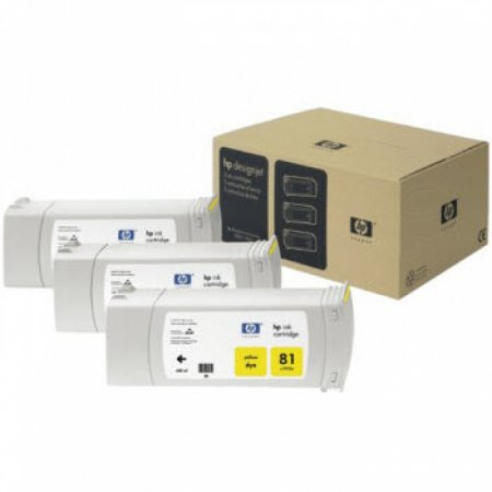 Original C5069A (HP 81) Ink Cartridges, High-Yield Yellow