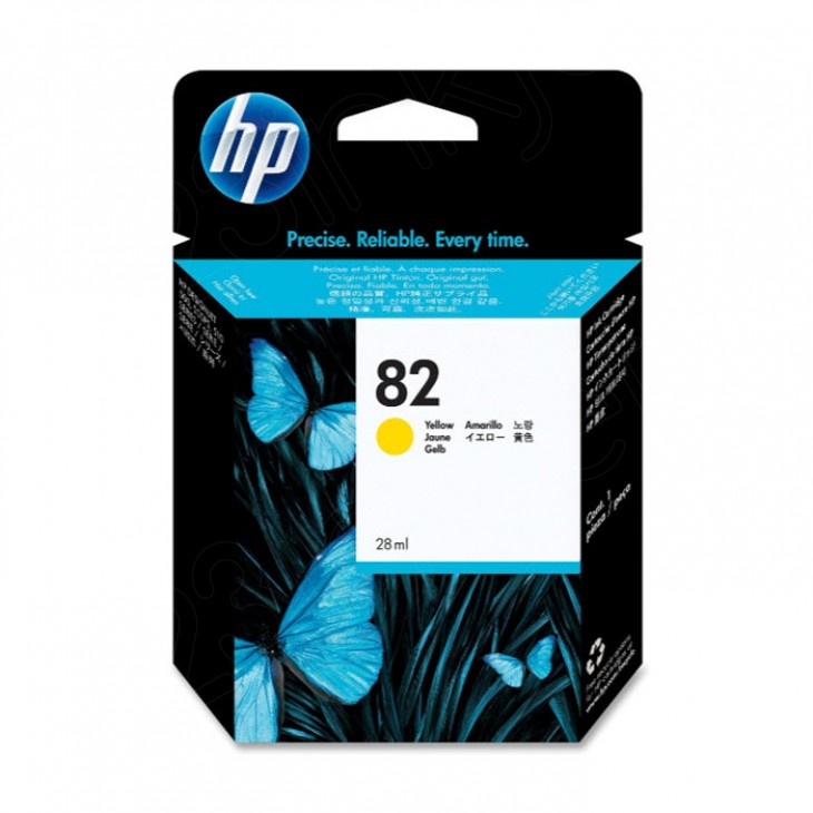 Original CH568A (HP 82) Ink Cartridges, Yellow