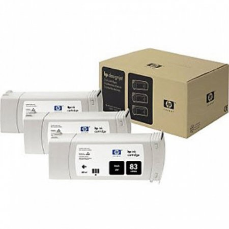Original C5072A (HP 83) Ink Cartridges, High-Yield Black