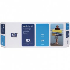 Original C4941A (HP 83) Ink Cartridges, Cyan